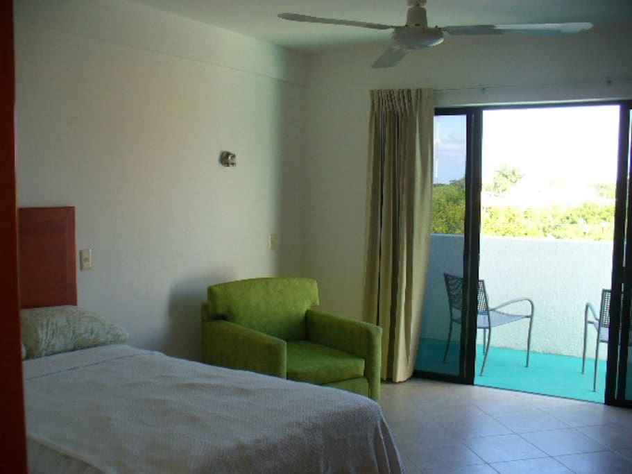Two large bedrooms  with double bed and a/c.