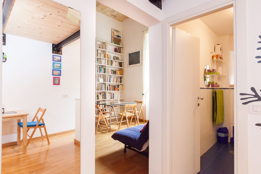 Cozy studio 2mins vatican museums apartments for rent in for Studio apartments in rome