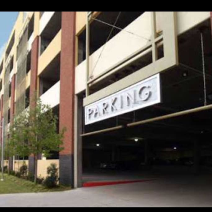 There's a six story covered parking garage for free with plenty of protected parking that security patrol .
