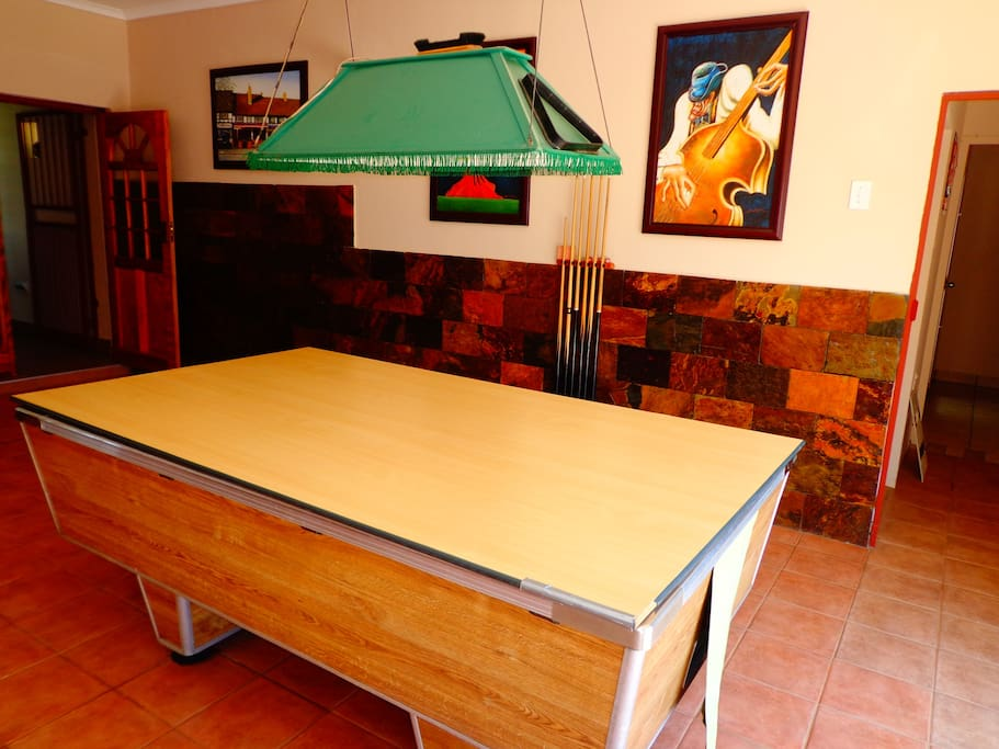 Entertainment area, all guests can enjoy playing pool, free of cost.