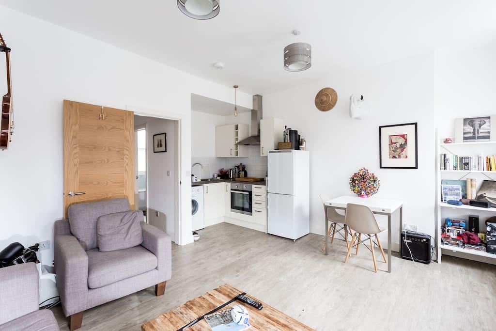 Living area/Open Plan Kitchen