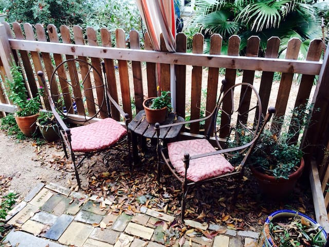 Private outdoor seating for your morning coffee or afternoon glass of wine.