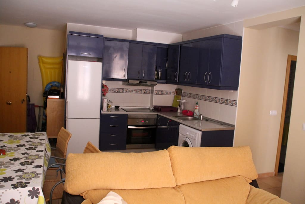 Living with kitchen