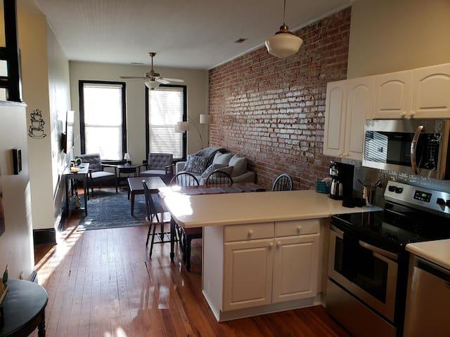 Kitchen Living Room Open Concept.