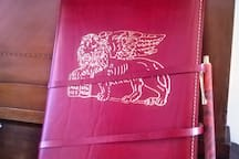 HANDMADE LEATHER GUEST BOOK