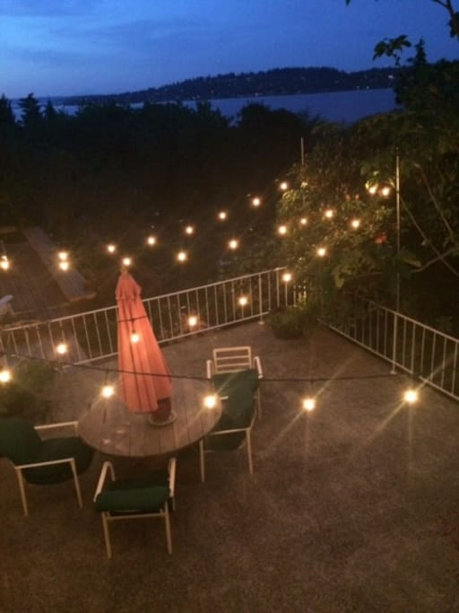 Private Patio by Night!