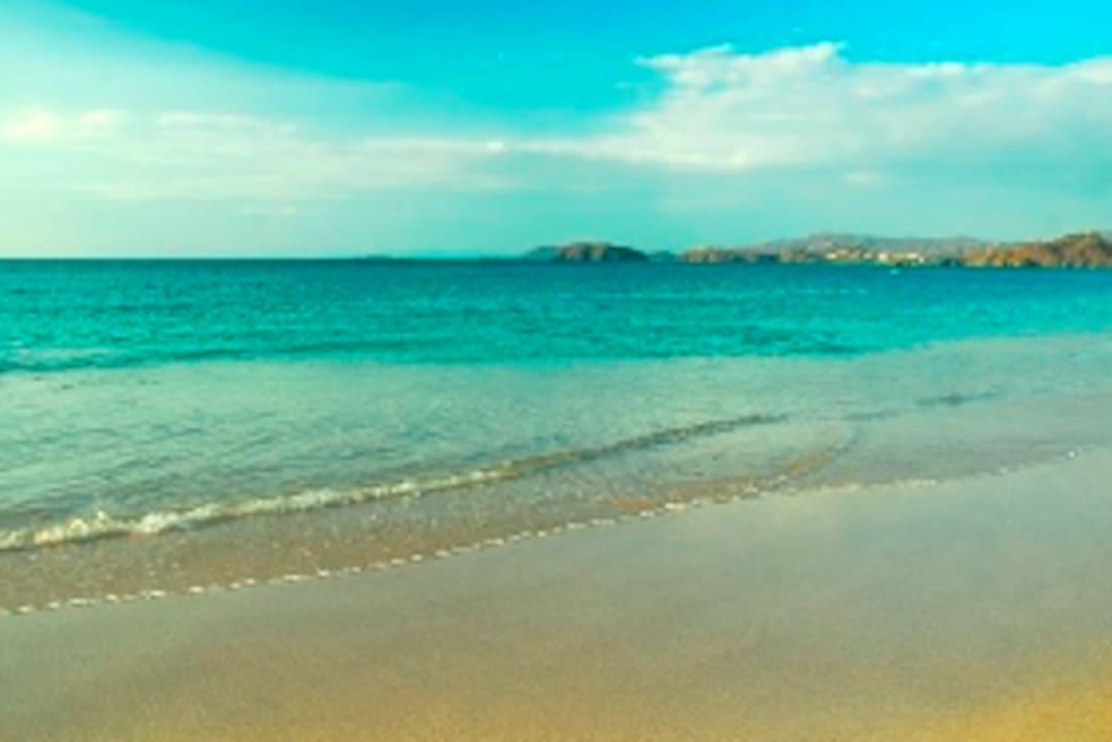 Costa Rica fabulous Conchal (shell) beach