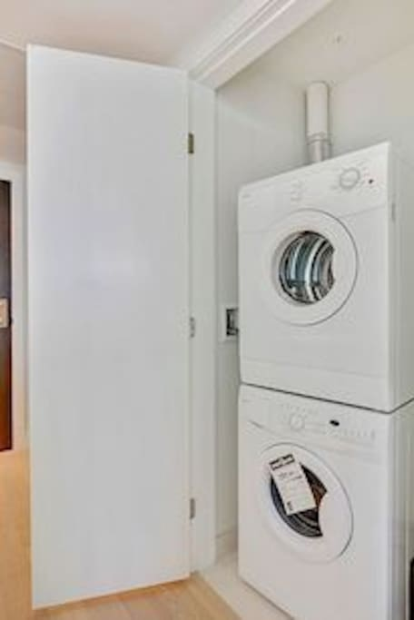 Ensuite washer and dryer.