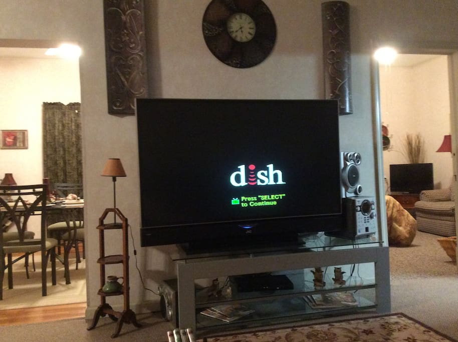 54 inch tv with Dish