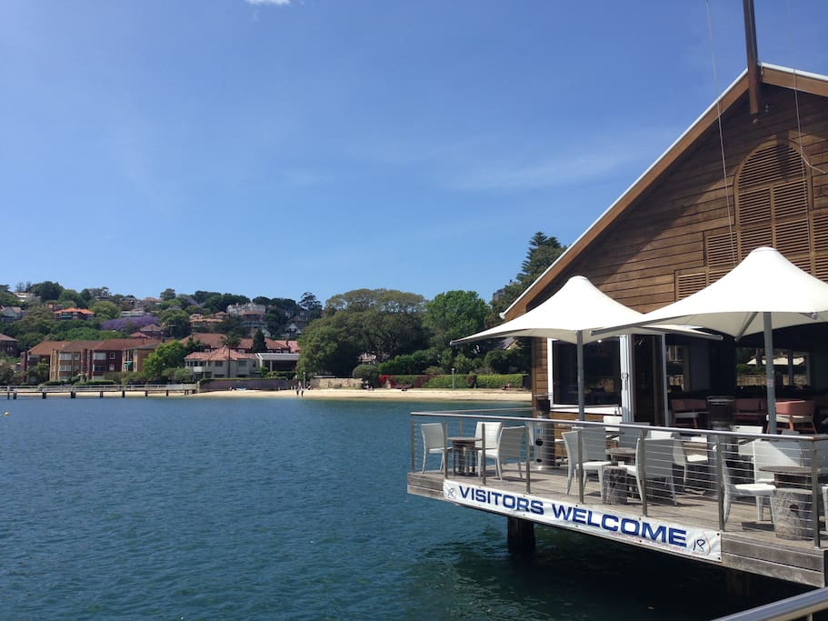 Double Bay Ferry and Yacht club 2 mins away