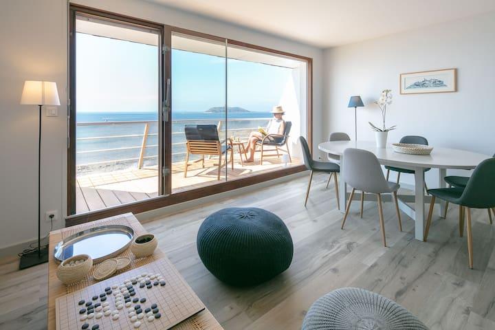 Trélévern : Maison avec vue mer exceptionnelle
