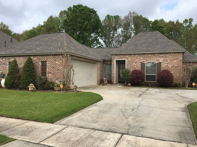 A beautiful home in a nice, quiet subdivision.