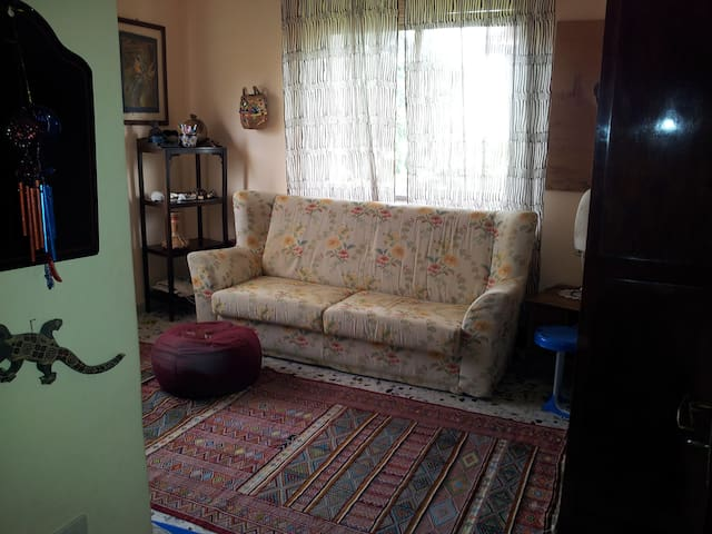double room with comfortable sofa