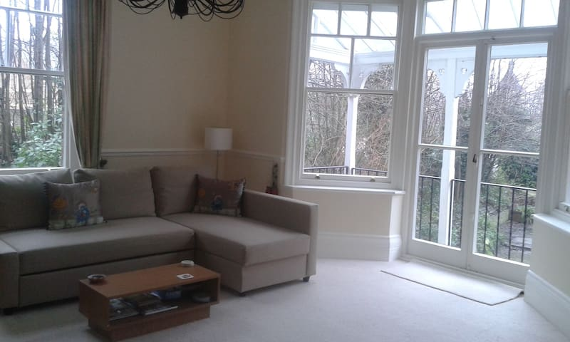 Near Pantiles Grnd Flr bright flat - Royal Tunbridge Wells - Huoneisto
