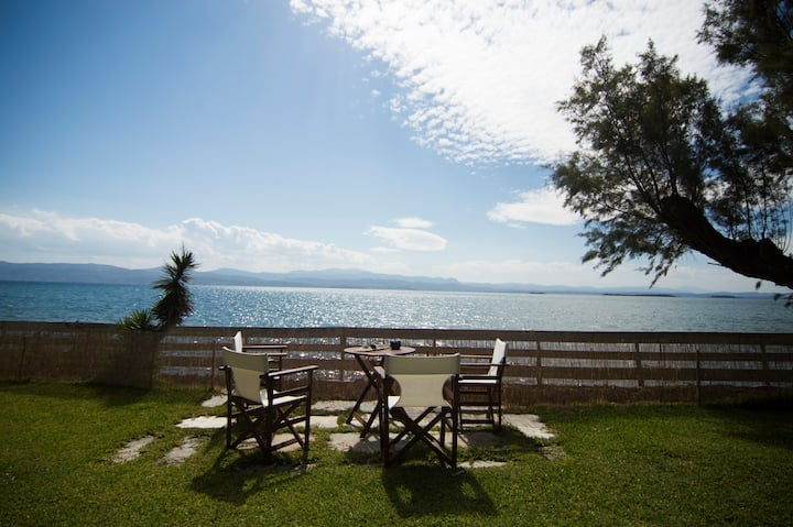 water front villa 50km from Athens, villa Aggeliki