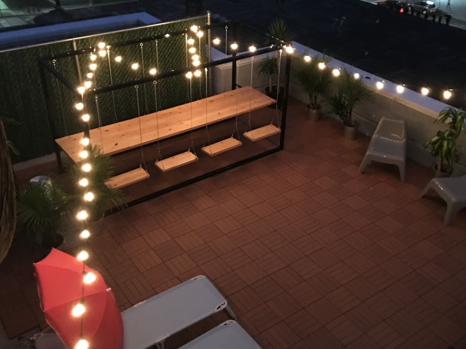 our private roof deck