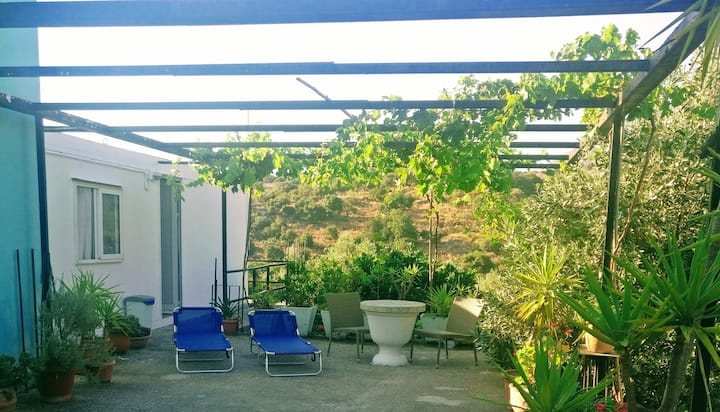 Green house inside the nature of Crete!
