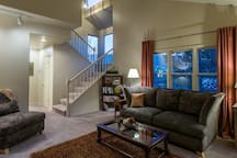 The Front Room is one of two spacious and family-focused living areas