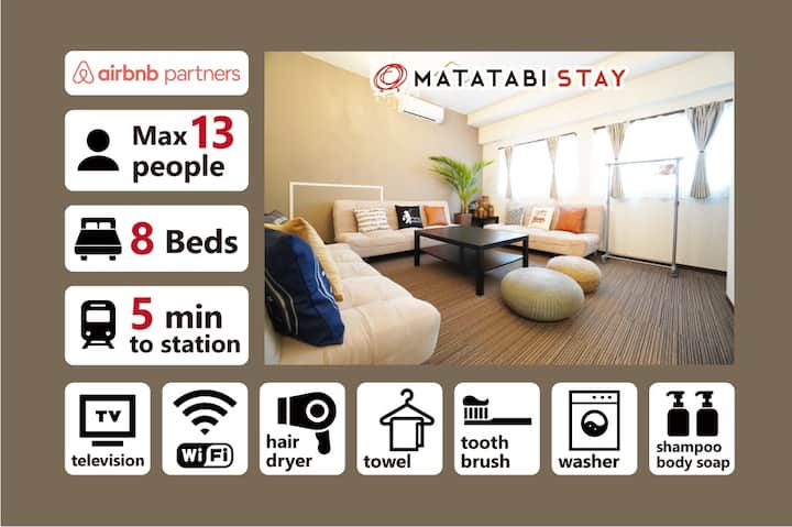 [SPHA]  Large 103m2 Room Near USJ for 13 Guests