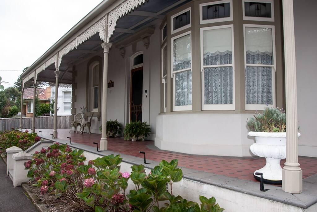 View of front verandah.