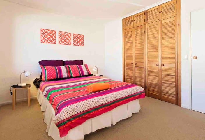 Queen bed. Second bedroom.
