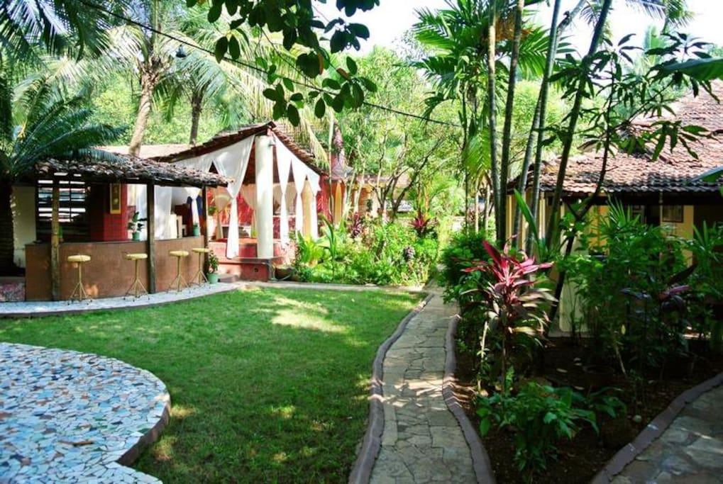 Family Room In Village Villa Anjuna Villas For Rent In