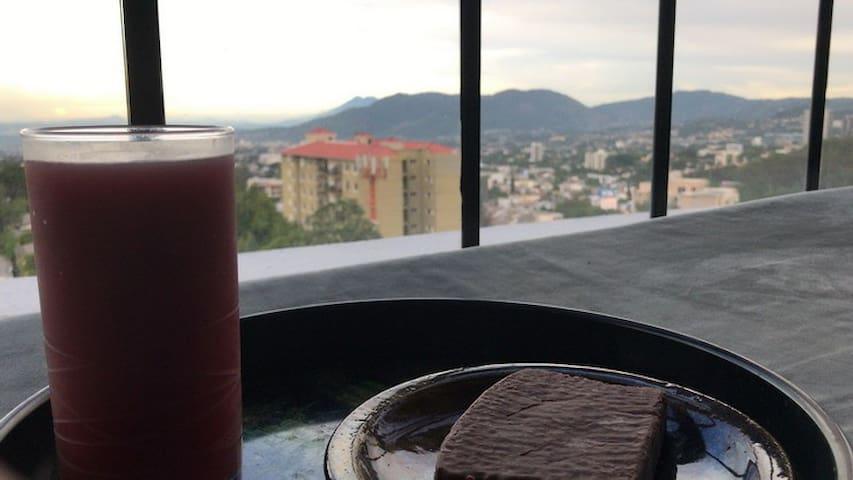 Ato con vista panoramica en Col Escalon San Salvad
