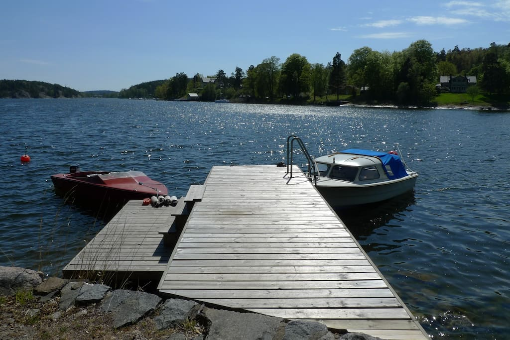 Your own dock where you can take a morning swim.