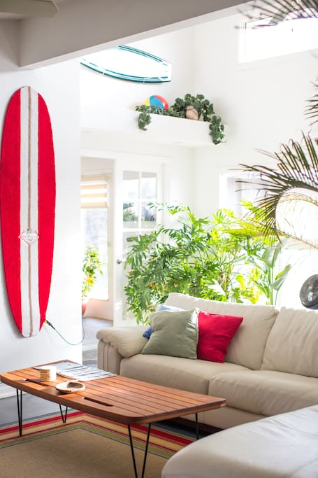 The Beach House is decorated with a whimsical and eclectic flair with bright vibrant colors that both energizes and relaxes you.