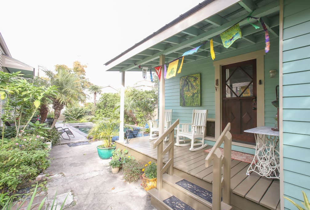 Studio is your own private, stand-alone building. Front porch included.