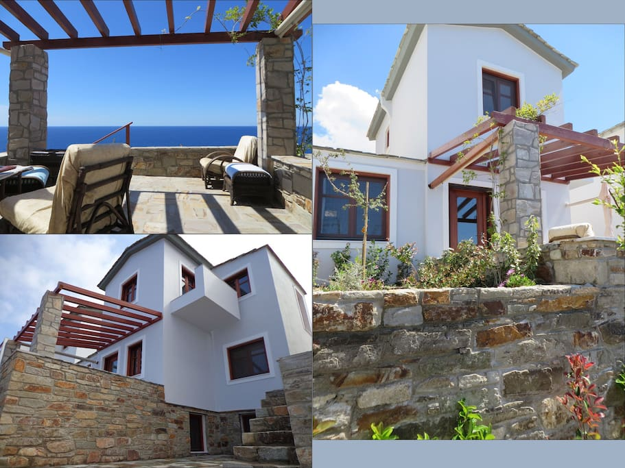 Traditional Ikaria Architecture, Sea Views & Garden Terraces.