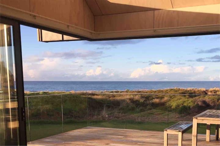 Beachfront Brand New House at Whiritoa, Coromandel