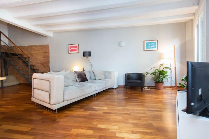 Clean entire loft apartment in borne fast WiFi