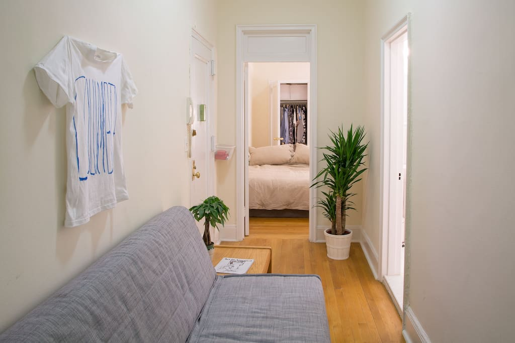 Hallway with a very comfortable fold-out couch/bed (Queen)