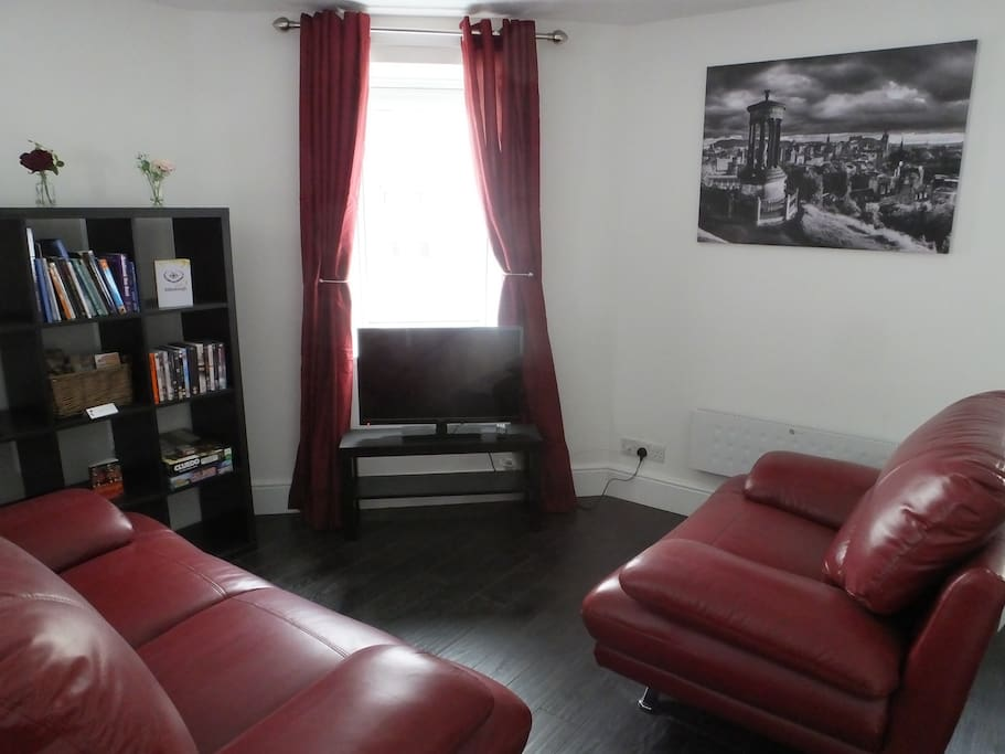 Living area with TV/DVD player