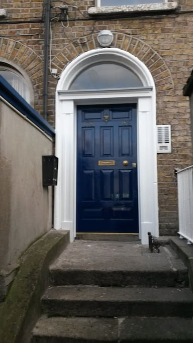 Entrance to house.  Each flat has private entrance.