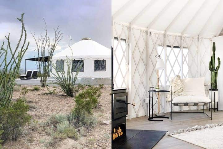 The Local Chapter Big Bend Luxury Yurt 1 NEW