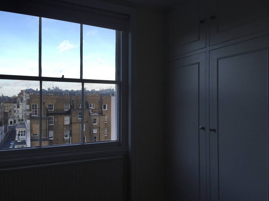 fitted wardrobes and city views