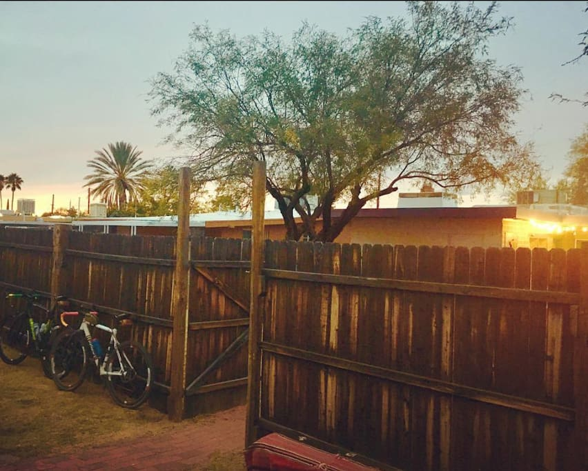 Sunsets are always great in Tucson. View from patio of Guest House.