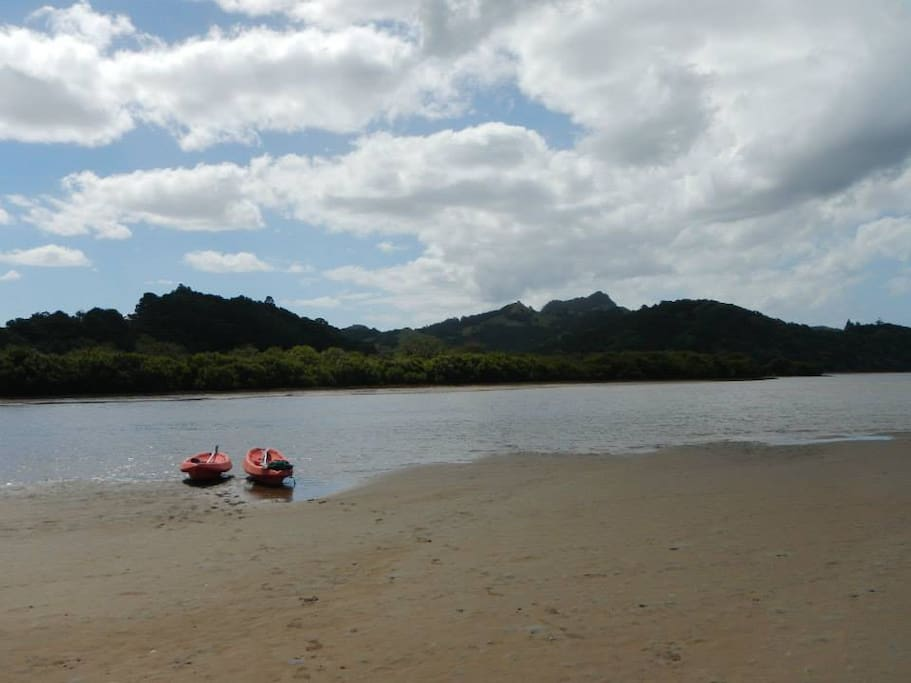 Pataua River. A great place to swim, kayak, take your lunch....