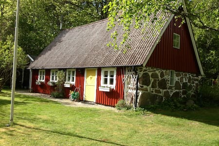 Swedish hill cottage(Backstuga) in the countryside