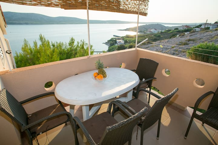 Apartment 7 Marija, view on Pag bay