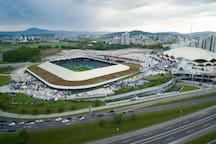 City stadium Arena Stozice is only 10 minutes walk from the our house.