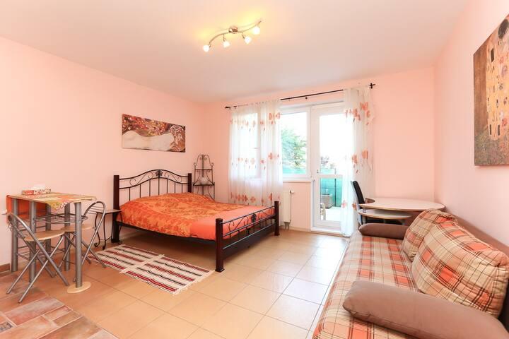 Романтичная квартира с очаровательной террасой.