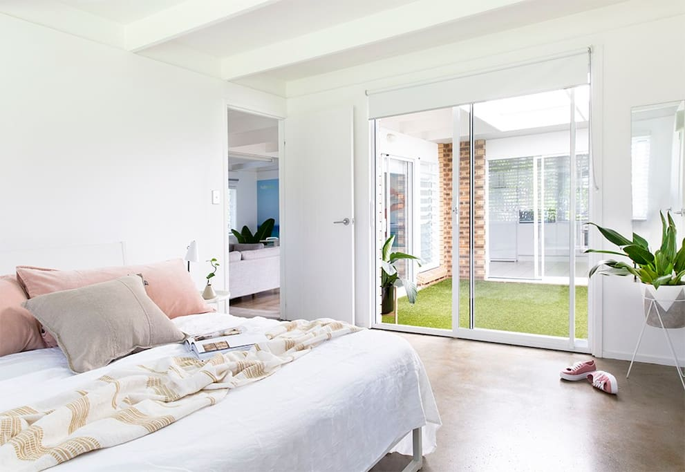 Main bedroom is ensuited and opens out onto interior courtyard