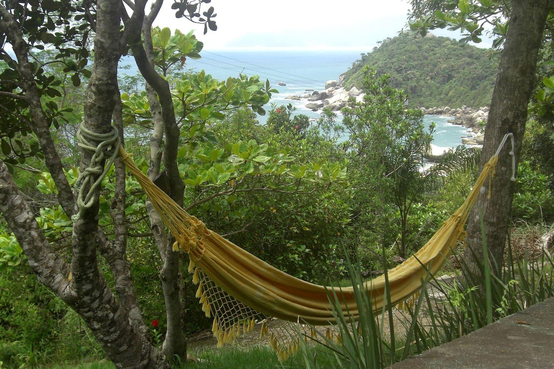 NaMorada Do Mar Chalé - frente com vista para a belíssima Enseada da Tainha