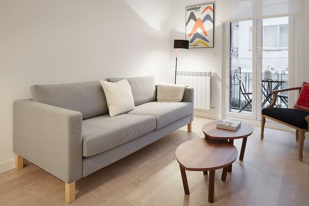 living room with small open area