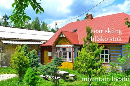 ZAWOJA ski / hike MOUNTAIN RETREAT - LOG CABIN x7