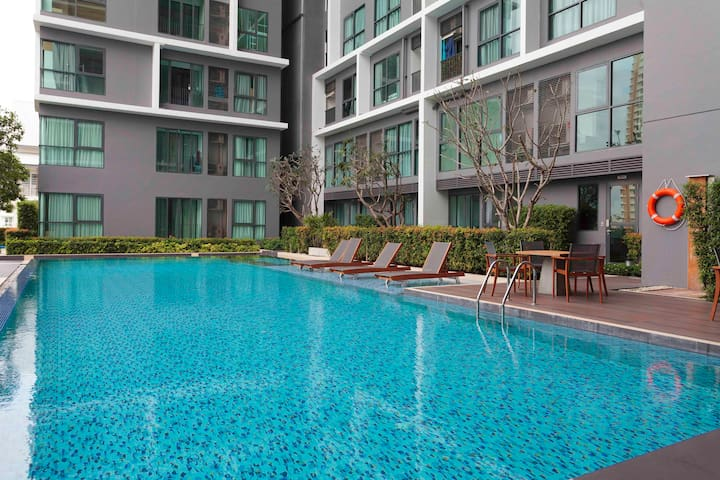 FreeWifi,fitness,pool 1m.toBTS - Bangkok - Apartament