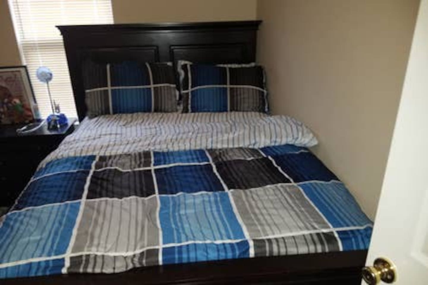 There are two bedrooms with similar beds and furniture just like the ones you are looking at on this picture. Then there is another with different kinds of furniture making a total of three bedrooms here. Each booking gets one bedroom of its own.